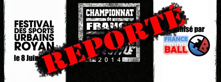 Championnats de France reportés !